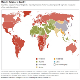 Majority Religion by Country (2012)